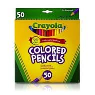 50pk Crayola Coloured Pencils | 50 Colouring Pencils