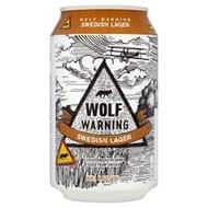 Wolf Warning 6.0% Swedish Lager 330mL - HALF PRICE