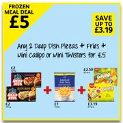 £5 Meal Deal, 2 Pizzas + Fries + Ice Lollies
