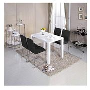 White High Gloss Dining Table Breakfast Kitchen Furniture 120cm