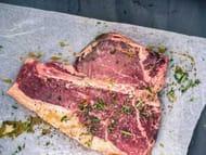 2 X Organic Beef T-Bone Steaks for £30