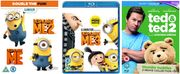 Blu-Ray Bundle Despicable Me 1, 2 & 3 + Ted 1 & 2 £9.99 Delivered at Zoom
