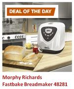 SAVE £35. DEAL OF THE DAY (MONDAY) Morphy Richards Fastbake Breadmaker 48281