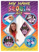 Arts and Crafts Sequin Art Bunny Rabbit Name Plaque Picture Kit