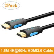 TESmart 4K HDMI Cable 1.5M High Speed HDMI 2.0 Cable 18Gbps with Ethernet 4K