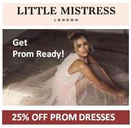 25% off Prom Dresses at Little Mistress