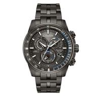 Citizen Eco-Drive Men's Black Stainless Steel Bracelet Watch