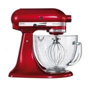 KitchenAid 5KSM156BCA Artisan Stand Mixer 4.8 Litre Glass Bowl Candy Apple Red