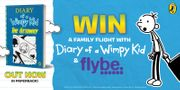 Win 4 Return Flybe Flights plus the Entire Diary of a Wimpy Kid Book Collection