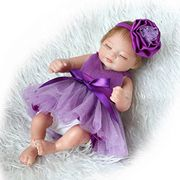 26cm Full Vinyl Silicone Body Real Touch Baby Lifelike Reborn Doll