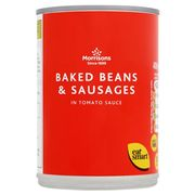 Morrisons Baked Beans & Sausages 400g - Save 35p