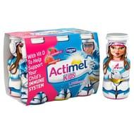 Actimel Kids Strawberry & Raspberry Yogurt Drinks 6 X 100g - Half Price