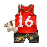 Acecoree Baby Boy Casual O-Neck Sleeveless Shirt Shorts Suit Trouser & Top