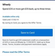 Spend £25 or More & Get £25 Back up to 3 times at Amex Rewards