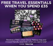 Spend £35 and Receive Free Urban Decay Makeup Bag