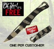 Free Zebra Folding Knife Pay Postage Only