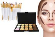 15-Shade Contouring Palette & 20pc Makeup Brush Set