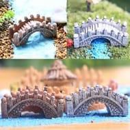 Aquarium Decoration Fish Tank Bridge Landscape Ornaments Pavilion Tree Resin