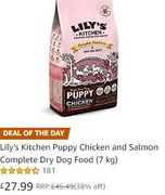 SAVE £17.50 Lily's Kitchen Puppy Chicken and Salmon Complete Dry Dog Food (7 Kg)