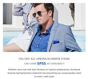 55% off All Spring/Summer Items