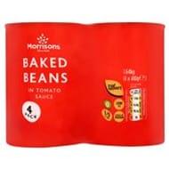 Morrisons Baked Beans 4 X 410g