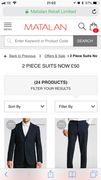 Mens Full Suit £50 (or £40 with £10 off £50 spend)