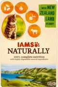 Iams Naturally Complete Cat Food with New Zealand Lamb in Gravy - 32% Off
