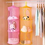 3 Shelf Hanging Mesh Space Saver Bag