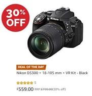 30% off - Nikon D5300 + 18-105 Mm + VR Kit ***5 STARS***