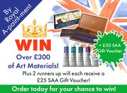 Spend £20+ This Weekend to Have a Chance to Win over £300 of Art Materials!