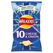 Walkers Cheese and Onion Crisps 10 X 25G - HALF PRICE