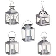 Home Decor Mini Lanterns 5pk - Silver