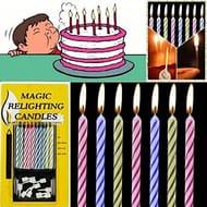 10 Magic Relightling Candles (94p + £1 P&P