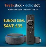 BUNDLE DEAL SAVE £35! Amazon Fire TV Stick + Echo Dot (3rd Gen),