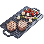 VonShef Non-Stick Cast Iron Reversible Griddle Pan Plate - 45% Off!