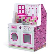 Plum 2-in-1 Wooden Dolls House & Kitchen H66 X W40 X D47 Cm