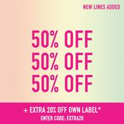 50% off + 20% off Own Label