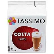 TASSIMO Costa Latte Coffee Capsules (Pack of 5, 40 Drinks)