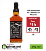 Jack Daniel's Old No. 7 Tennessee Whiskey 1Lt
