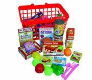 Kids Shopping Basket and Groceries