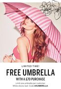 Free Umbrella with a £70 Purchase
