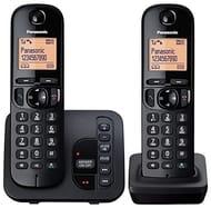 Panasonic KX-TGC222EB Digital Cordless Phone with LCD Display-Black (Pack of 2)
