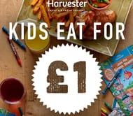 Harvester | Kids Eat for £1 over Easter