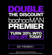*TODAY ONLY* Premier Day at BooHooMan. up to 50% off