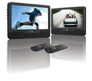 LOGIK Dual Screen Portable DVD Player - Black & White