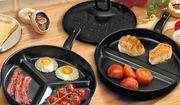Set of 2 Divider Non-Stick Frying Pans Less than £11 Delivered - save 77%