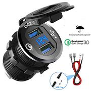 Quick Charge 3.0 Car Charger 12V/24V 36W Aluminum QC3.0 Dual USB Fast Charger