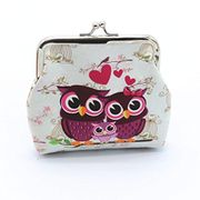 Lady Retro Vintage Lovely Owl Small Wallet Coin Purse