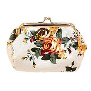 Women Lady Retro Vintage Flower Small Wallet Hasp Purse Clutch Bag