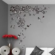 Swarovski with Butterflies Vine Wall Sticker Set by Walplus